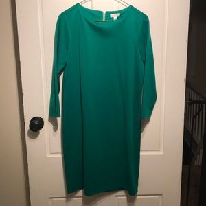 Green dress with zipper detail